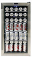 Beverage Cooler 17 in. 120-Can Capacity Single Zone 5 Shelves Lighted