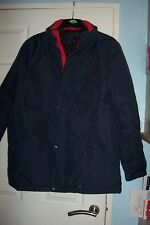MENS NAVY COAT L  QUILTED INSIDE BNWT