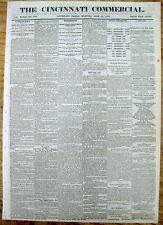 BEST 1868 newspaper w EARLIEST AD for PRO baseball team CINCINNATI RED STOCKINGS