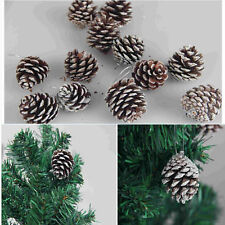 9x Christmas Mini Pine Cones Baubles Xmas Tree Hanging Decor Ornament Home Best