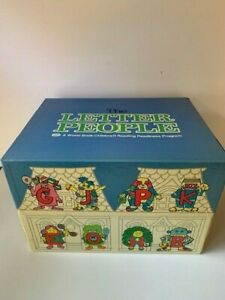 The Letter People Vintage Reading Program Box/Books/Records Complete- READ