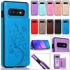 For Samsung Galaxy S10 S9 S8 S7 Plus Magnetic Leather Wallet Phone Case Cover
