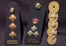 Canada Post-WWII Assortment of 3 Captains Shoulder Boards & Shoulder Cord