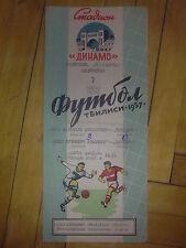 Programme Dynamo Tbilisi Tiflis USSR - West  Bromwich England 1957 friendly