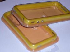 FUNDA BUMPER IPHONE AMARILLO 4 BOTONES METALICOS + PROTECTOR PANTALLA CARCASA