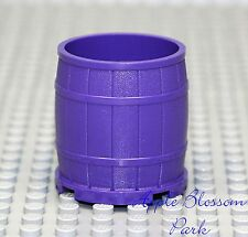 NEW Lego Minifig Large DARK PURPLE BARREL -Wood Pattern Container 4x4x3.5 - 6857