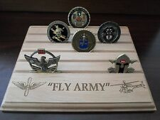 Fly Army Military Challenge Coin Holder//Display 8x10 CHINOOK