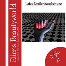 Caoutchouc Latex rubber Gants Gants Noir avec rouge griffes taille xl - (xlarge)