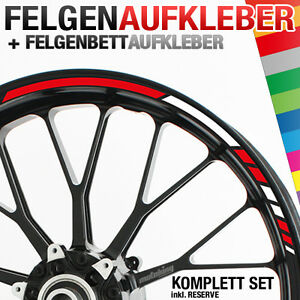 Felgenrandaufkleber RS - Felgenaufkleber für Motorrad & Auto Felgen Aufkleber ▒