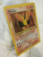 Moltres Holo Foil Rare 12/62 Fossil Set Pokemon Card WotC 1999 Legendary Bird