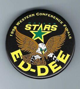 "RARE 1998 DALLAS STARS NHL Hockey ""ED-DEE"" BELFOUR Western Conference Finals PIN"