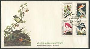 GUINE-BISSAU - 1986 'GOLDEN-CROWNED THRUSH' John Audubon First Day Cover [C3262]
