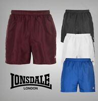Mens Lonsdale 2 Stripe Zip 2 Pockets Woven Shorts Sizes from S to XXXXL