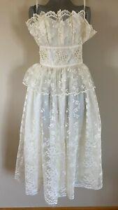 Victor Costa Neiman Marcus Lace Dress *Vintage*