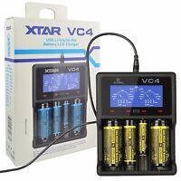 XTAR VC4 USB Charger LCD Display Li-ion Ni-MH 14500 18650 26650 AA AAA Battery