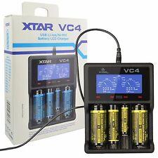 XTAR VC4 USB Charger LCD Display Li-ion Ni-MH 14500 18650 26650 AA AAA
