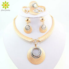 Fashion Crystal Necklace Earring Bracele Ring Wedding Gift African Jewelry Sets
