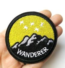 Wanderer Outdoor Traveller Iron-On/Sew-On Embroidered Patch Applique, Wanderlust