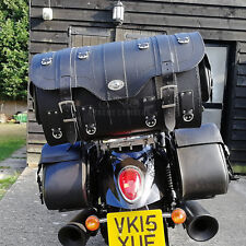 Cuero Negro Trasero Bolsa Alforjas Alforja Harley Davidson Trike Goldwing VW