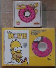 The Simpsons The Movie 2-Pack DVD & T-Shirt & BONUS Music CD Set New SEALED 2007