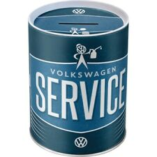 Spardose VW Service Volkswagen,Metall,13 cm ,Money Bank,Neu
