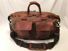 Will Leather Goods Canvas & Leather Traveler Duffle Bag Tobacco/Saddle $450