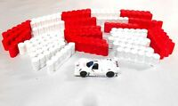 24 Tire Unpainted barriers HO Slot Car Layout scenery AFX Tyco T Jet Auto World