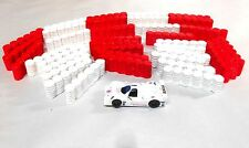 50 Unpainted Tire Barriers HO Slot Car Layout scenery AFX Tyco T Jet Auto World