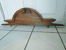 Ancien grand fronton/bois sculpté/armoire,miroir- antique carved wooden pediment