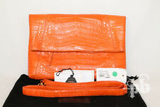 Nancy Gonzales Orange Exotic Clutch w Strap