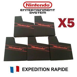 5 Fourreaux rangement cartouche avec logo Nintendo NES - NEUF - Sleeve étui Case