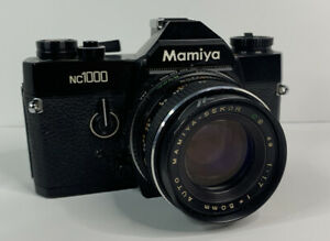 mamiya nc1000 35mm film camera With 50mm Sekor Lens - Untested - Parts Only (a)