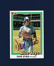 Dave Stieb signed Toronto Blue Jays 1981 Donruss baseball card