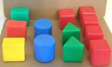 12 Vintage Fisher Price Baby's First Blocks #412, #414, #1024 From 1970's, 80's