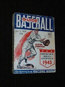ORIGINAL 1945 SPORTING NEWS BASEBALL GUIDE AND RECORD BOOK