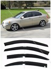 Window Visors Sun Rain Wind Guard for Hyundai Accent GSL Sedan 4dr 2006-2011