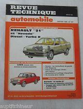 Revue technique automobile RTA 487 1988 Renault 21 & nevada diesel turbo D