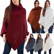 Poncho donna coprispalle mantella tricot maglia scialle caldo TOOCOOL VB-6135