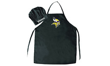 Minnesota Vikings Nfl Apron & Chef'S Hat Set Barbecue Tailgating Cooking