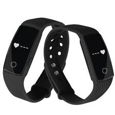 Bluetooth Smart Watch Heartrate Bracelet Sync Phone Mate For IOS Android