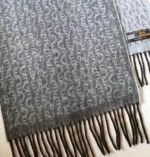 Jaeger 100% cashmere scarf grey black NEW mens womens ladies wool woollen winter