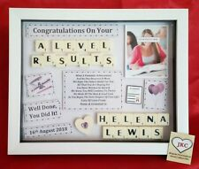 A LEVEL EXAM RESULTS CONGRATULATIONS PERSONALISED FRAME PICTURE  KEEPSAKE GIFT