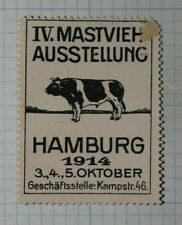 Germany Cattle Bull Steer Expo1914 Exposition Poster Stamp Ads