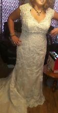 Maggie Sottero Golden Lace Wedding Dress Plus Size 28 For Tall Brides