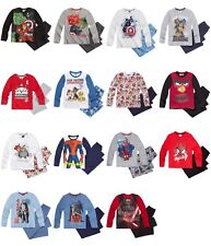 New boys licensed long sleeve character pyjamas pyjama set top and trousers
