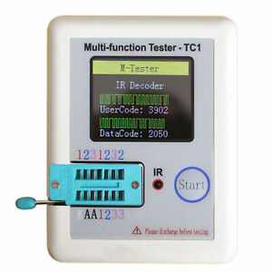 Multifunction Transistor Tester Diodes LCR - TC1 Full Color Graphics Display New