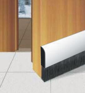 1 mt sottoporta paraspifferi paraporte in pvc spazzola flessibile marrone