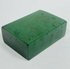 Vintage Bakelite Block Large Green 124g for Mahjong, Backgammon, Beads, Jewelry