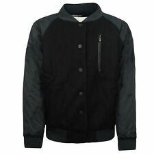 Nike Womens Varsity Bomber Jacket Black Button Up 394688 010