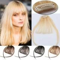Clip in Front Thin/Neat Air Bang Fringe Remy Human Hair Extensions Blonde Pieces